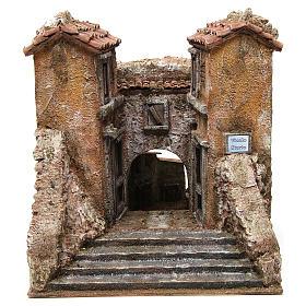 Borgo Vicolo Storto per presepe 10 cm 29x29x25 cm s1