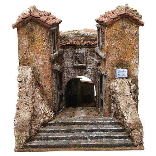 Borgo Vicolo Storto per presepe 10 cm 29x29x25 cm 1