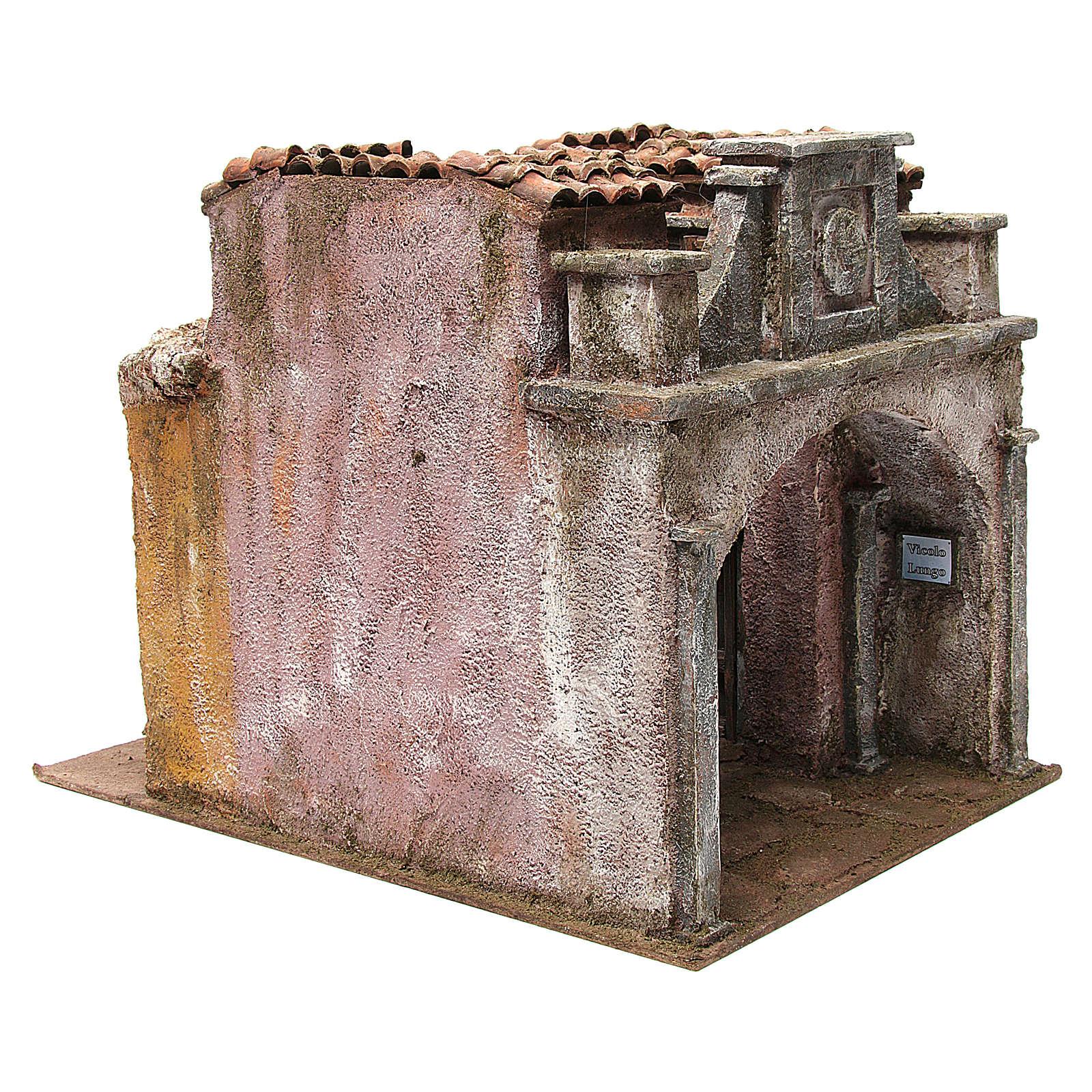 Borgo Vicolo Lungo per presepe 10 cm 30x30x40 cm 4