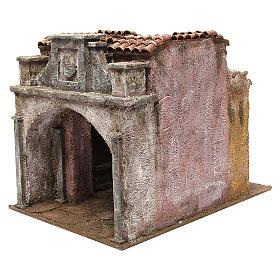 Borgo Vicolo Lungo per presepe 10 cm 30x30x40 cm s2