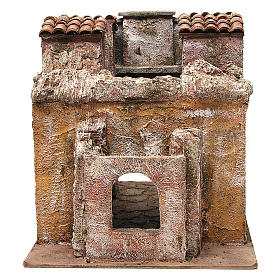 Borgo Vicolo Lungo per presepe 10 cm 30x30x40 cm s5