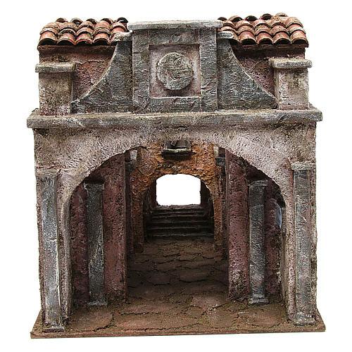 Borgo Vicolo Lungo per presepe 10 cm 30x30x40 cm 1