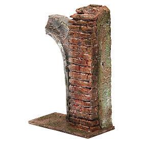 Semiarco con colonna per presepe da 10cm 15x10x5 cm s2