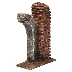 Semiarco con colonna per presepe da 10cm 15x10x5 cm s3