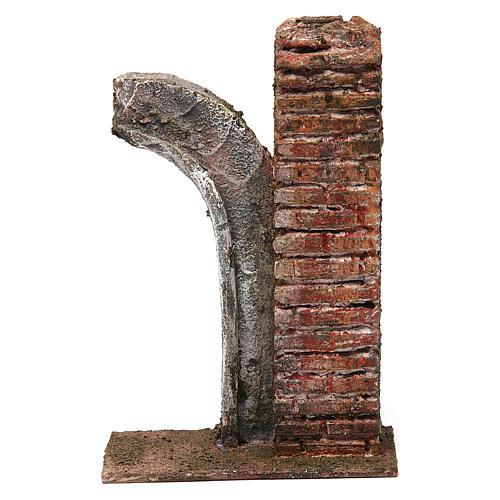 Semiarco con colonna per presepe da 10cm 15x10x5 cm 1