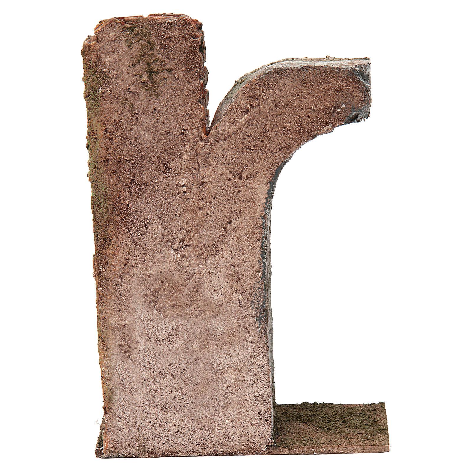 Semiarco con colonna per presepe da 12 cm 20x15x5 cm 4