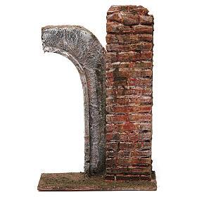 Semiarco con colonna per presepe da 12 cm 20x15x5 cm s1