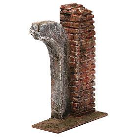 Semiarco con colonna per presepe da 12 cm 20x15x5 cm s3
