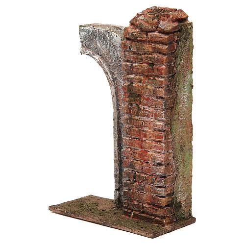 Semiarco con colonna per presepe da 12 cm 20x15x5 cm 2