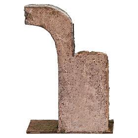 Semiarco con metà colonna per presepe 12 cm 20x15x5 cm s4
