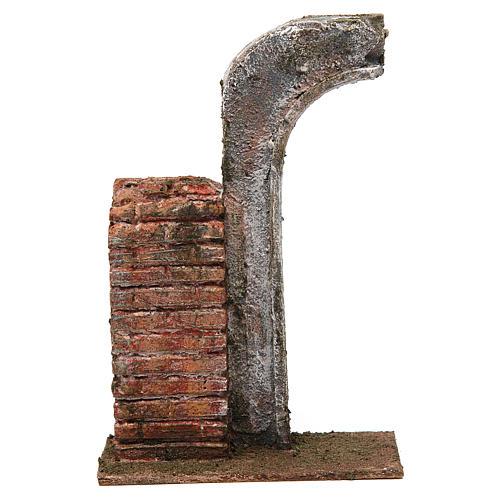 Semiarco con metà colonna per presepe 12 cm 20x15x5 cm 1