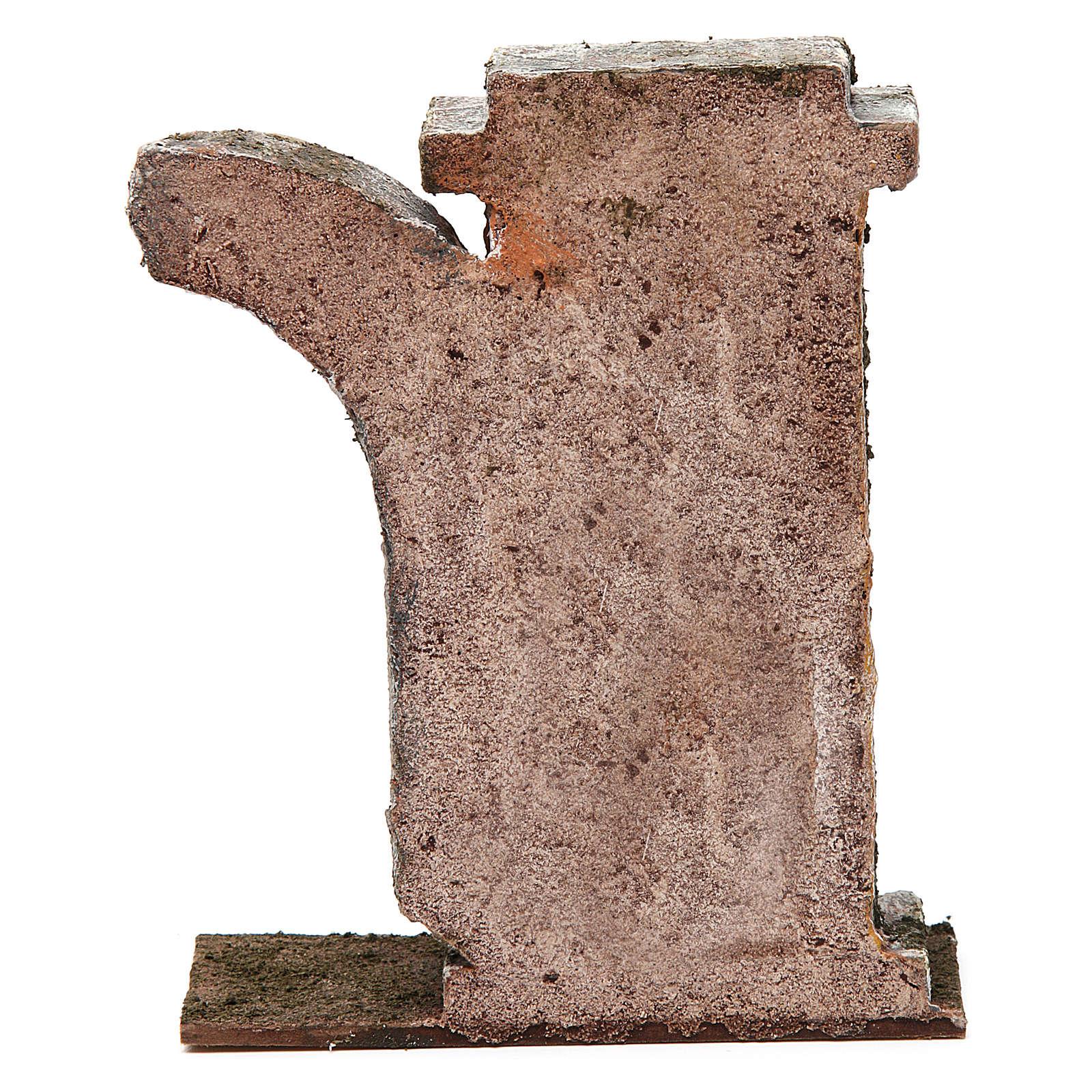 Muro con semiarco per presepe da 10 cm 15x15x5 cm 4
