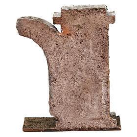 Muro con semiarco per presepe da 10 cm 15x15x5 cm s4