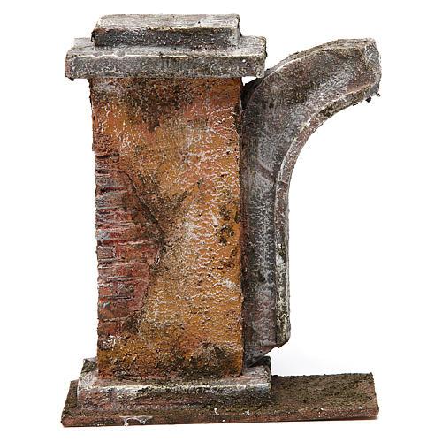 Muro con semiarco per presepe da 10 cm 15x15x5 cm 1