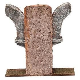 Muro con doppio semiarco per presepe 10 cm 15x5x15 cm s4