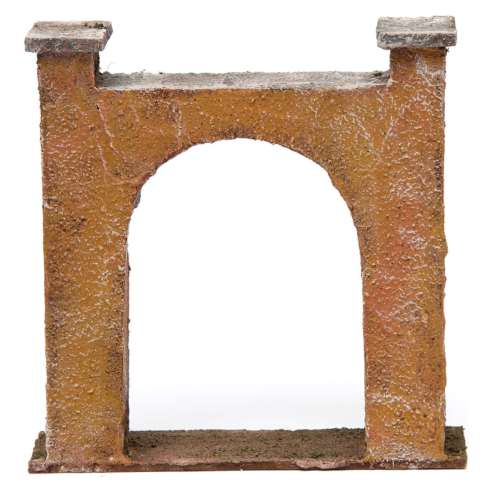 Arco puerta ciudad para belén 10 cm de altura media 15x5x15 cm 4