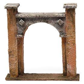 Arco puerta ciudad para belén 10 cm de altura media 15x5x15 cm s1
