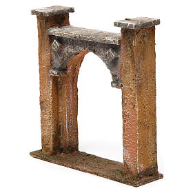 Arco puerta ciudad para belén 10 cm de altura media 15x5x15 cm s2