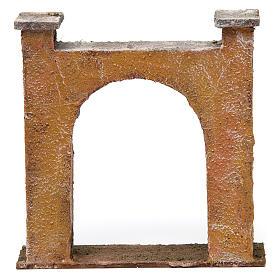 Arco puerta ciudad para belén 10 cm de altura media 15x5x15 cm s4