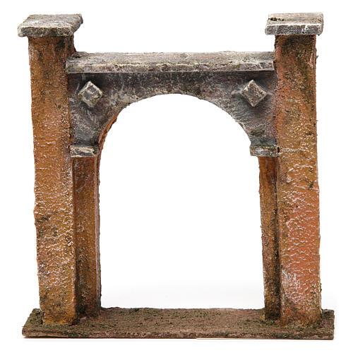 Arco puerta ciudad para belén 10 cm de altura media 15x5x15 cm 1