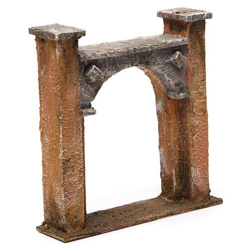 Arco puerta ciudad para belén 10 cm de altura media 15x5x15 cm 3