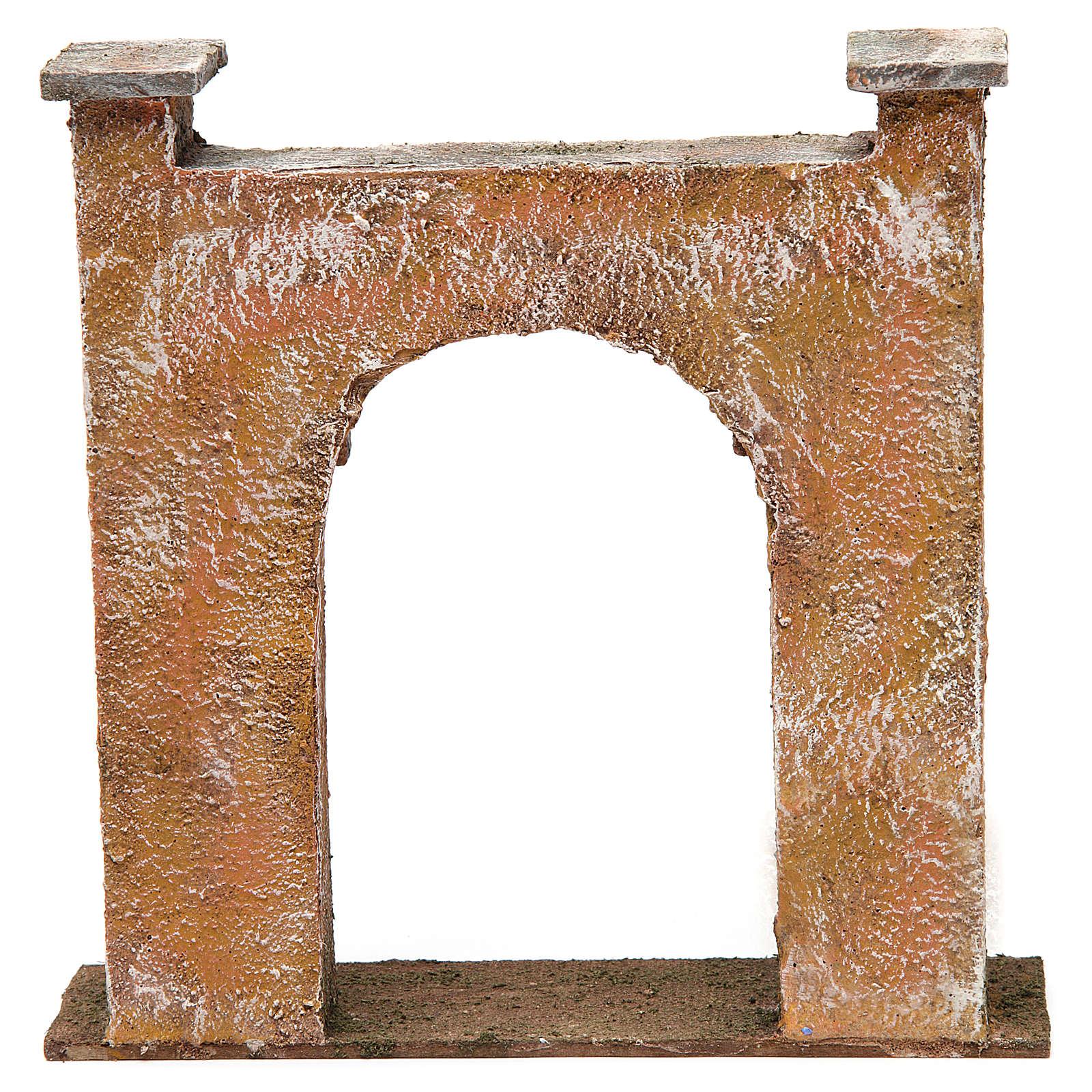 Arco porta città per presepe 12 cm 20x5x20 cm 4