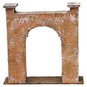Arco porta città per presepe 12 cm 20x5x20 cm s4
