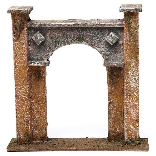 Arco porta città per presepe 12 cm 20x5x20 cm 1