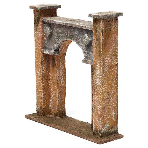 Arco porta città per presepe 12 cm 20x5x20 cm 2