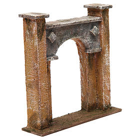 City gate arch for nativity 12 cm 20x5x20 cm s3