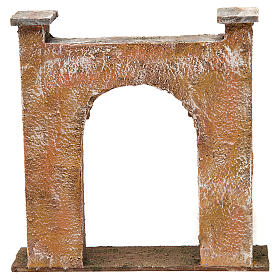 City gate arch for nativity 12 cm 20x5x20 cm s4