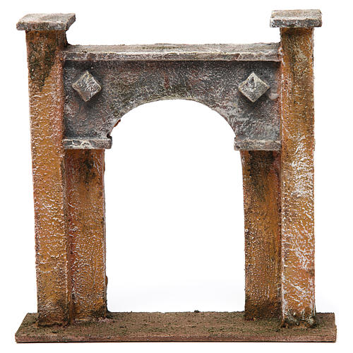 City gate arch for nativity 12 cm 20x5x20 cm 1