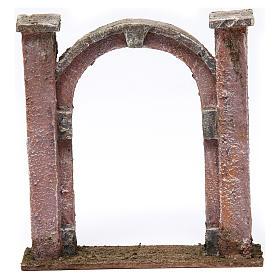 Arco porta per presepe 10 cm 15x5x15 cm s1