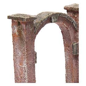Arco porta per presepe 10 cm 15x5x15 cm s3