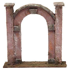 Arco porta per presepe 12 cm 20x5x20 cm s1