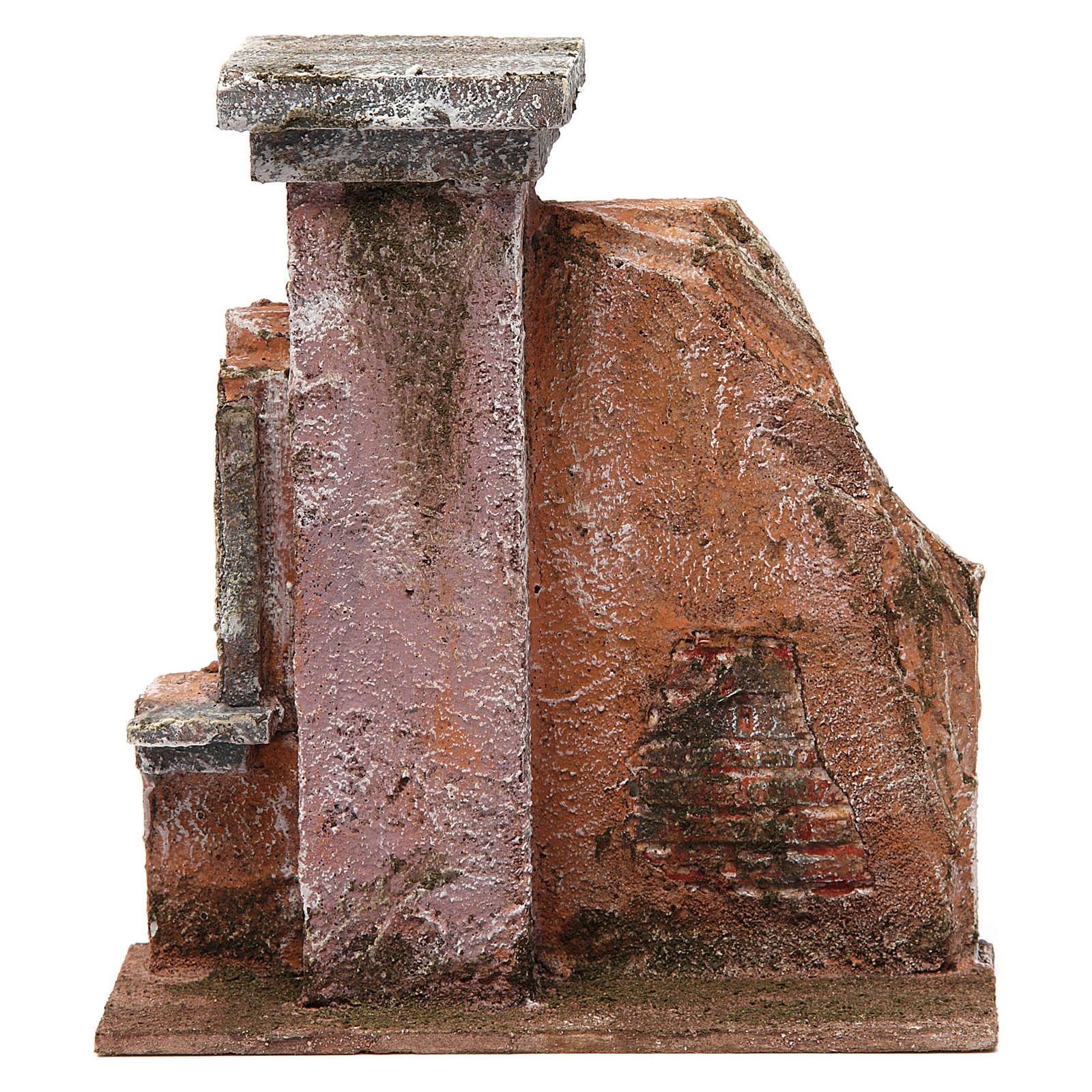 Colonna muro per presepe 10 cm 20x15x5 cm 4