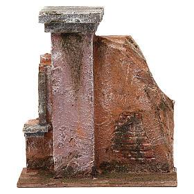 Colonna muro per presepe 10 cm 20x15x5 cm s1