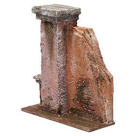 Colonna muro per presepe 10 cm 20x15x5 cm s2