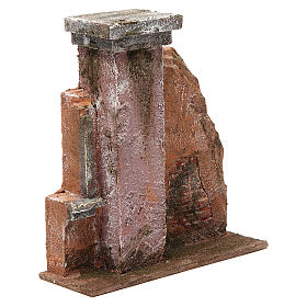 Colonna muro per presepe 10 cm 20x15x5 cm s3