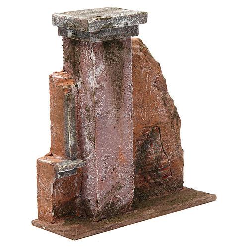 Colonna muro per presepe 10 cm 20x15x5 cm 3