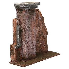 Colonna muro per presepe 12 cm 20x20x5 cm s3