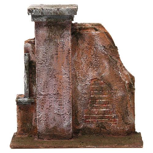 Colonna muro per presepe 12 cm 20x20x5 cm 1