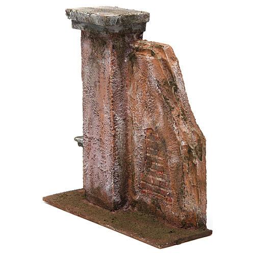 Colonna muro per presepe 12 cm 20x20x5 cm 2