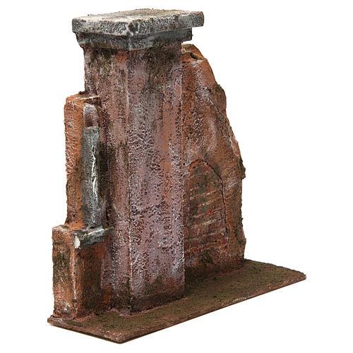 Colonna muro per presepe 12 cm 20x20x5 cm 3