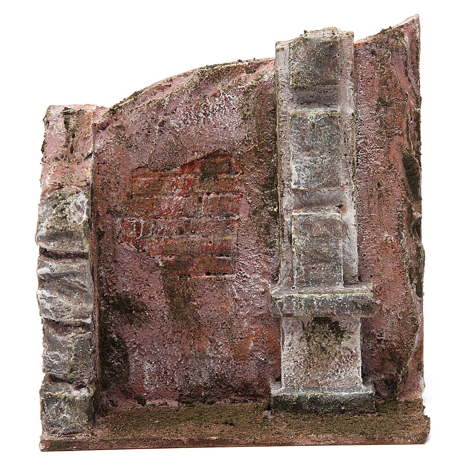 Muro per presepe 10 cm 20x15x5 cm 4
