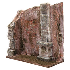 Muro per presepe 10 cm 20x15x5 cm s2