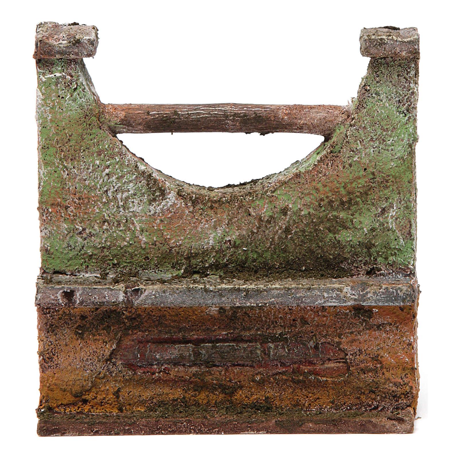 Muretto per presepe 10 cm 10x5x10 cm 4