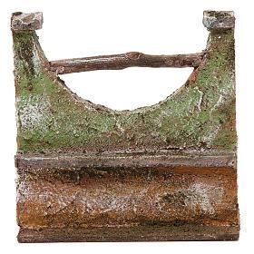 Maisons, milieux, ateliers, puits: Muret pour crèche 12 cm 15x5x10 cm