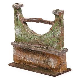 Muretto per presepe 12 cm 15x5x10 cm s2