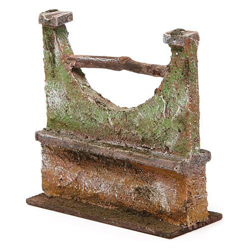 Muretto per presepe 12 cm 15x5x10 cm 2